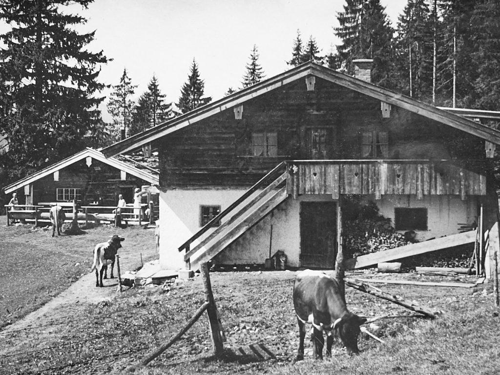 Die Kaitl-Alm um 1950